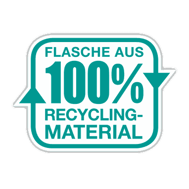 Flasche aus 100% Recycling-Material