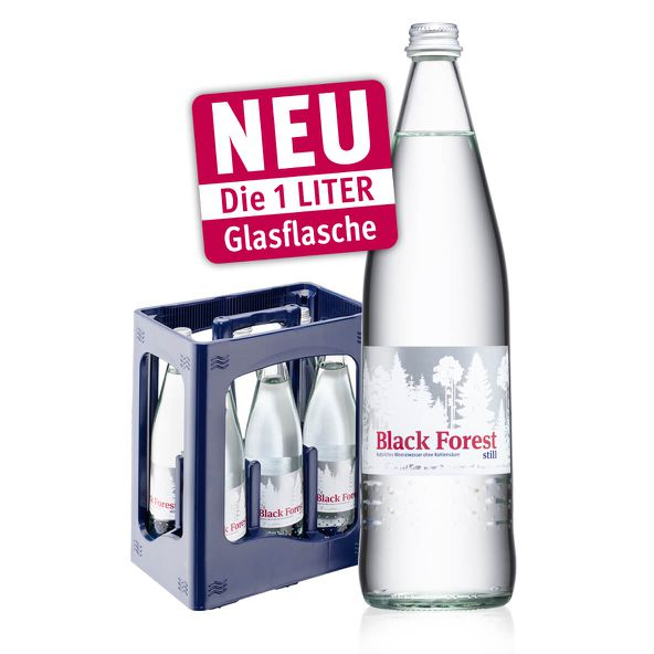 Neu: Black Forest still in der 1-Liter Glasflasche